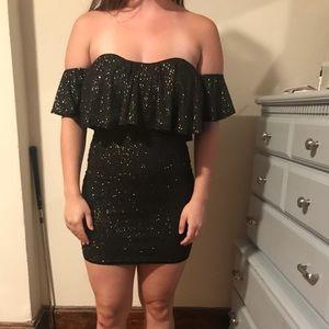 BRAND NEW never worn dark metallic mini dress